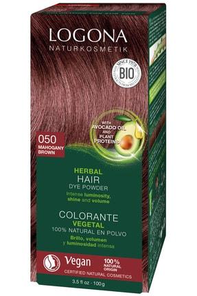 Logona Bitkisel Toz Saç Boyası - 050 Maun Kahve 100 g