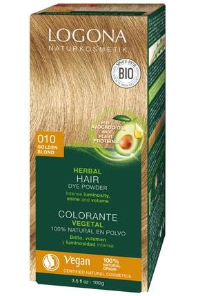 Logona Bitkisel Toz Saç Boyası - 010 Altın Sarısı 100G