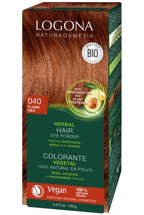 Logona Bitkisel Toz Saç Boyası - 040 Ateş Kızılı 100G