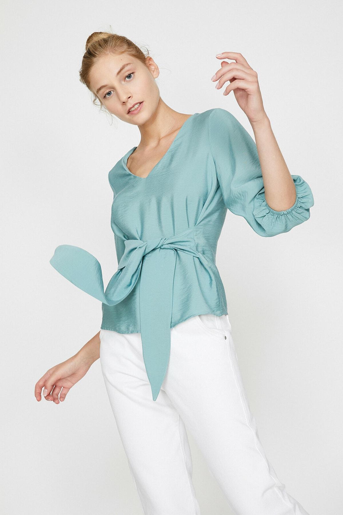 Koton Kadın Yeşil Bluz 0KAL68768IW 2