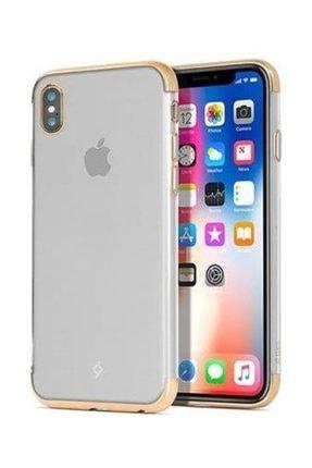 Ttec ChromeClear Koruma Kılıfı iPhone X Altın