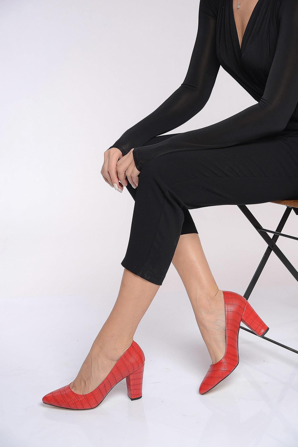 Shoes Time Kırmızı Kadın Topuklu Ayakkabı 19K 207 1