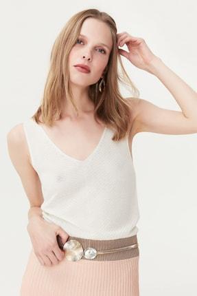 İpekyol Kadın Pembe Çizgi Şeritli Örme Elbise IS1190002272033
