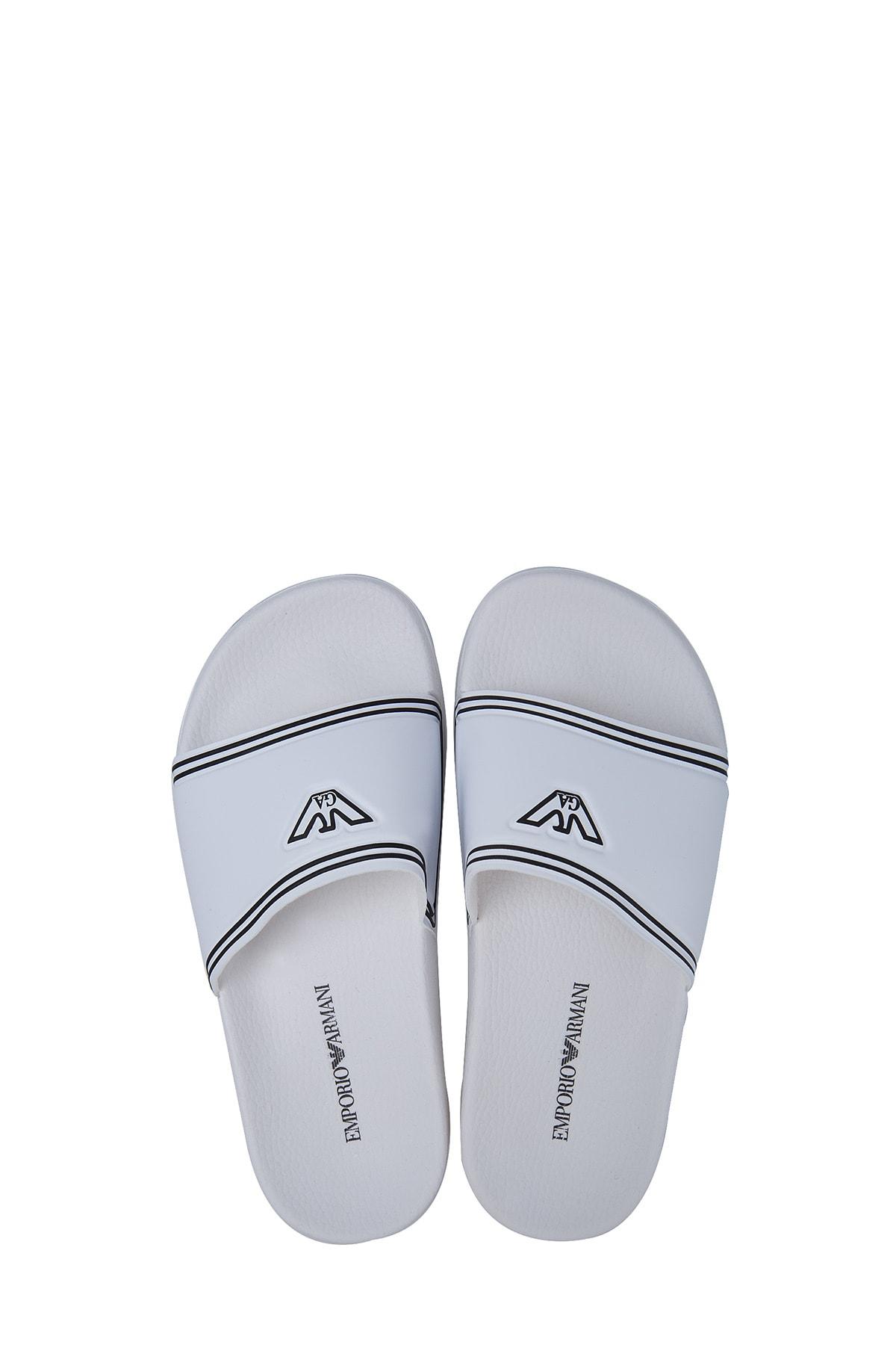 Emporio Armani Beyaz Kadın Terlik S X3P706 XD184 00230 2