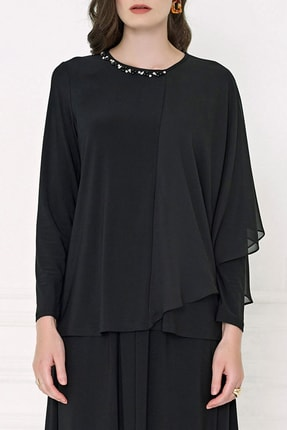 Aker Kadın Siyah Bluz 20K022309504-002