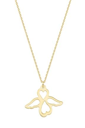 Altınbaş Kadın Altın Kalpli Kanat Kolye KLMK7095-24754