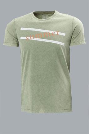 Lufian Lakon Vintage T- Shirt Yeşil