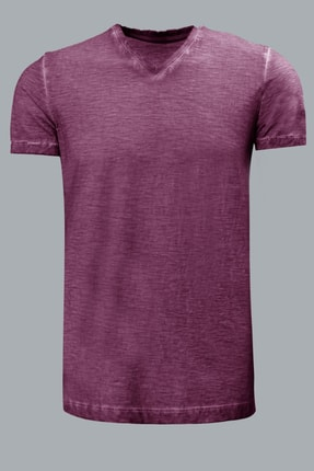 Lufian Erkek Geras Basic T- Shirt Mürdüm 111020008100880