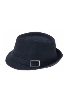 Bay Şapkacı Kaşe Kadın Siyah Fötr Şapka 4789
