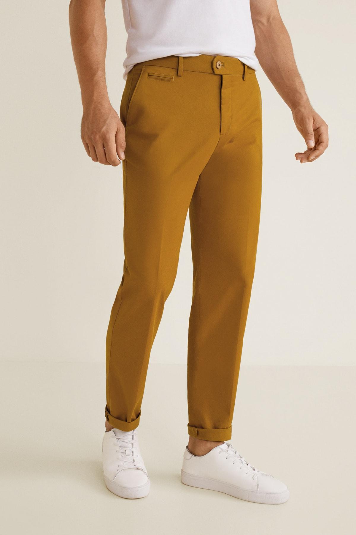 MANGO Man Erkek Kahverengi Pantolon 2