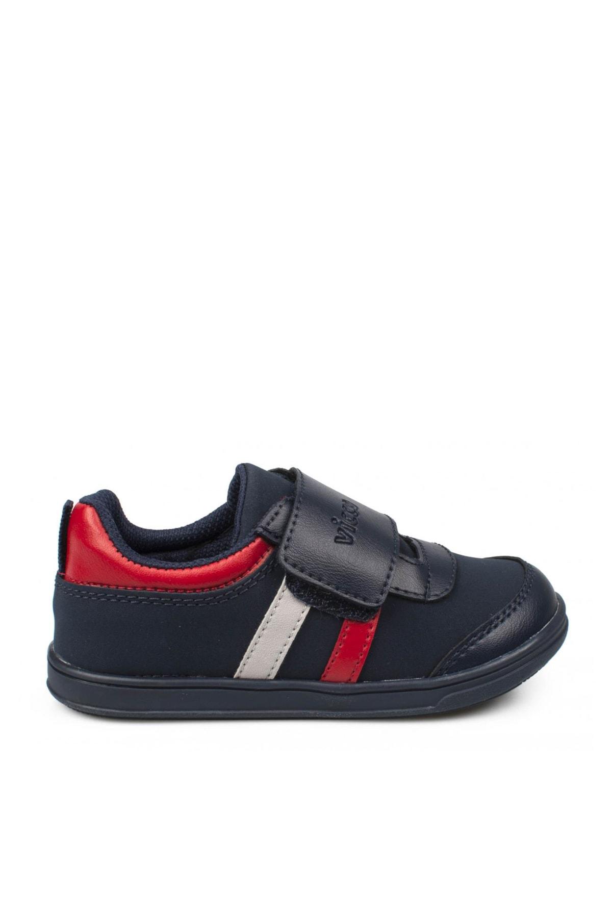 Vicco Lacivert Kırmızı Kız Bebek Yürüyüş Ayakkabısı 211 950.E19K223 2