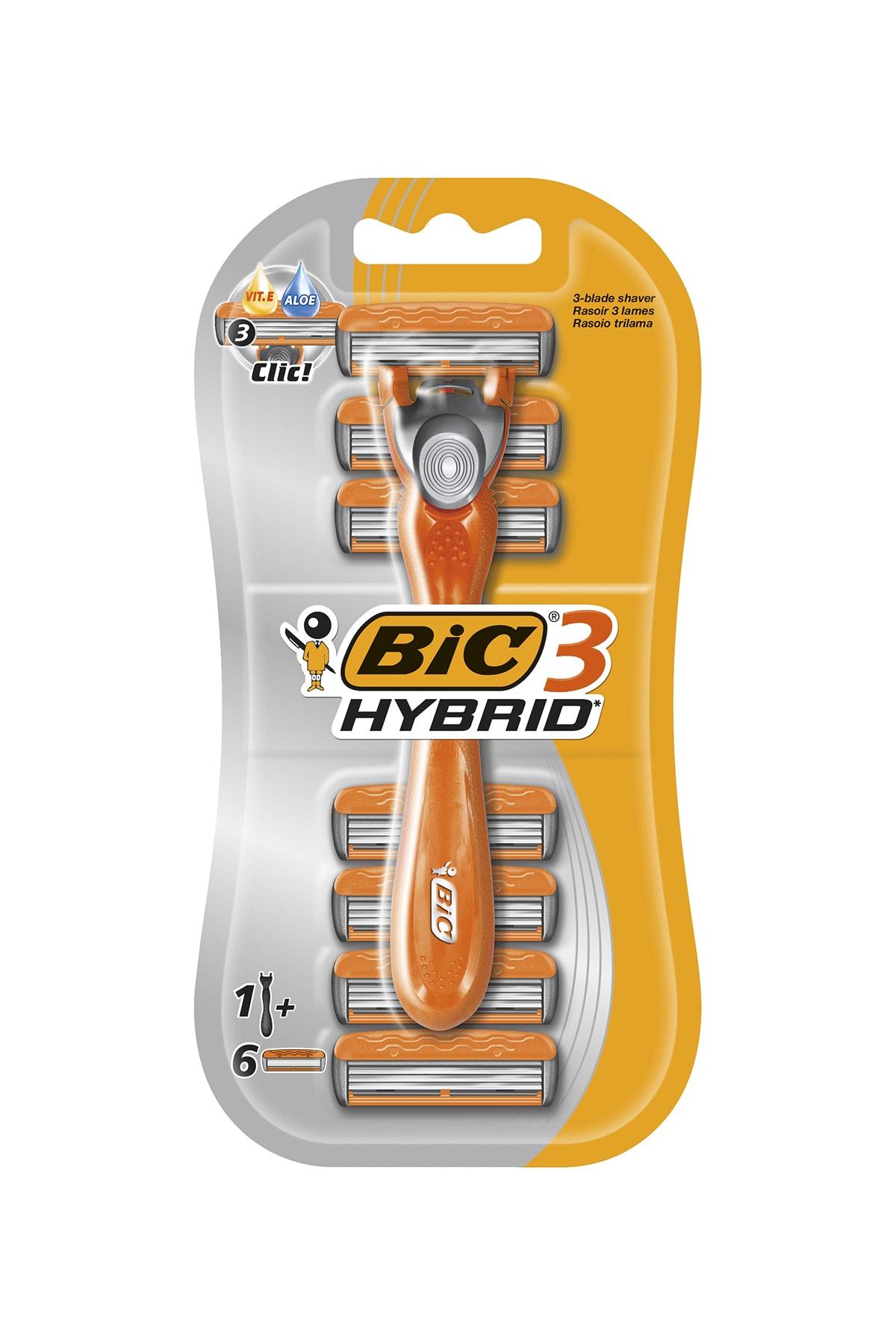Bic 3 Hybrid Tıraş Bıçağı 6 Kartuşlu (3 Bıçak) 1