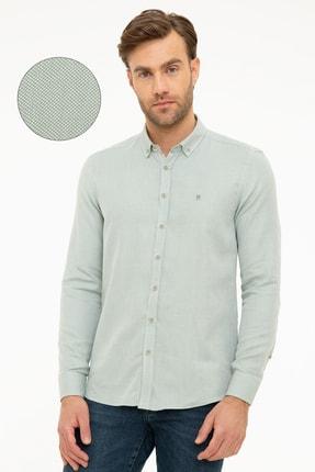 Pierre Cardin Erkek Yeşil Slim Fit Gömlek G021GL004.000.989151