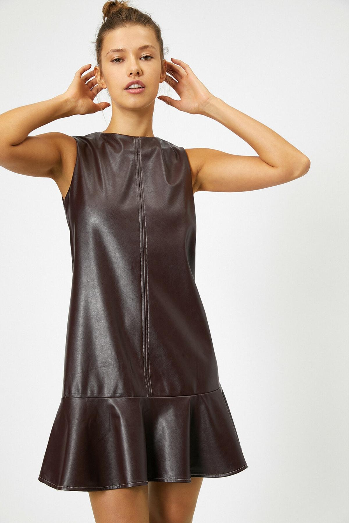 Koton Kadın Bordo Elbise 0KAL88412IW 1