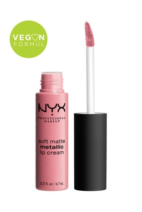 NYX Professional Makeup Mat Ruj - Soft Matte Metallic Lip Cream Milan 800897138547
