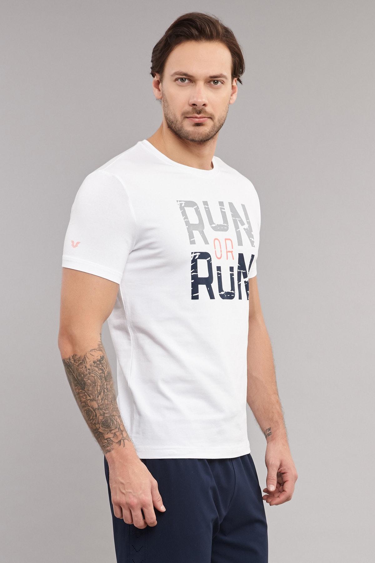 bilcee Beyaz Pamuklu Erkek T-Shirt ES-1362 2