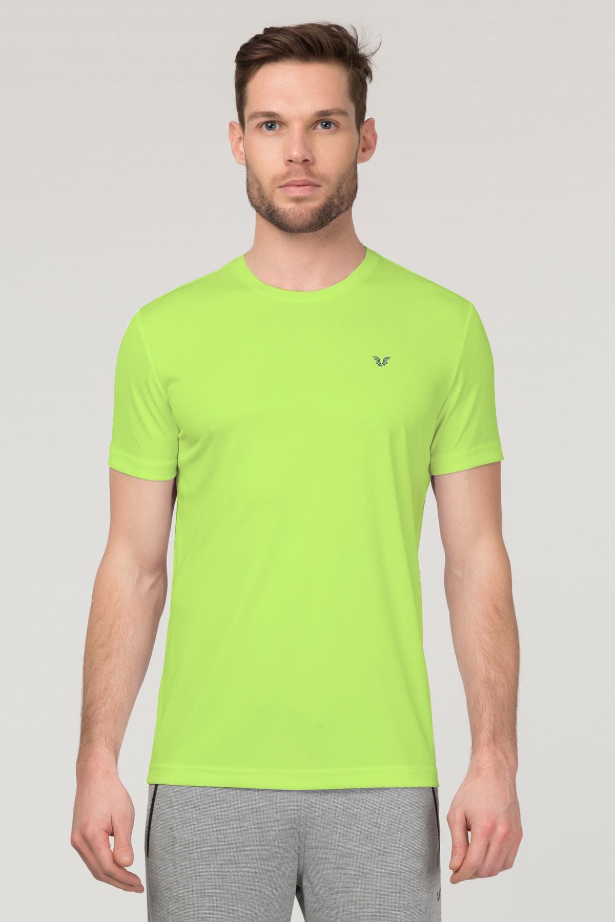 bilcee Yeşil Antrenman  Erkek T-Shirt FS-1683