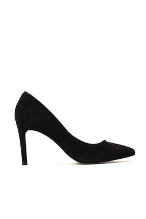 Hotiç Hakiki Deri Siyah Kadın Klasik Topuklu Ayakkabı 01AYH155850A100