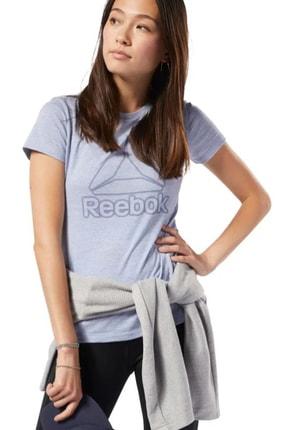 Reebok Kadın T-shirt - Te Marble Logo Tee - EC2323