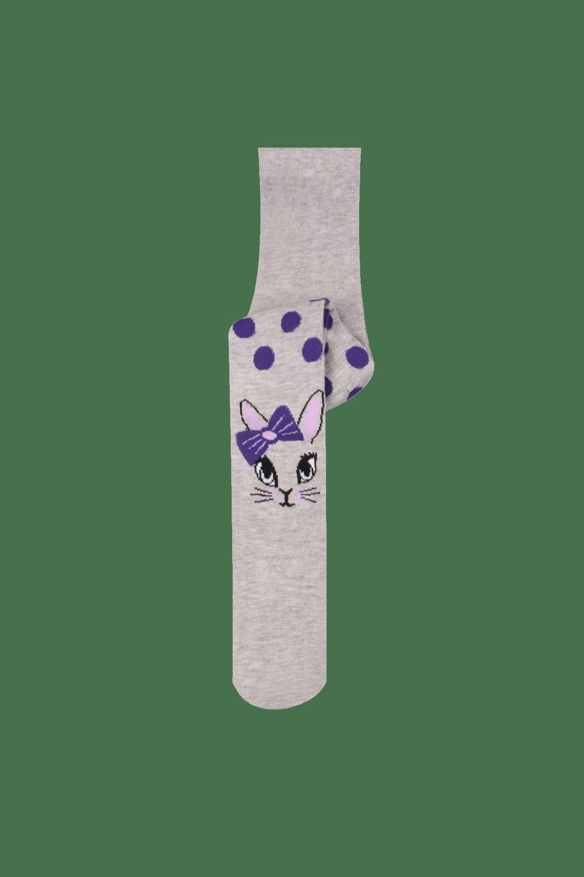 Bross Çocuk Grimelanj Puanlı Kedi Desenli Çocuk Külotlu Çorap