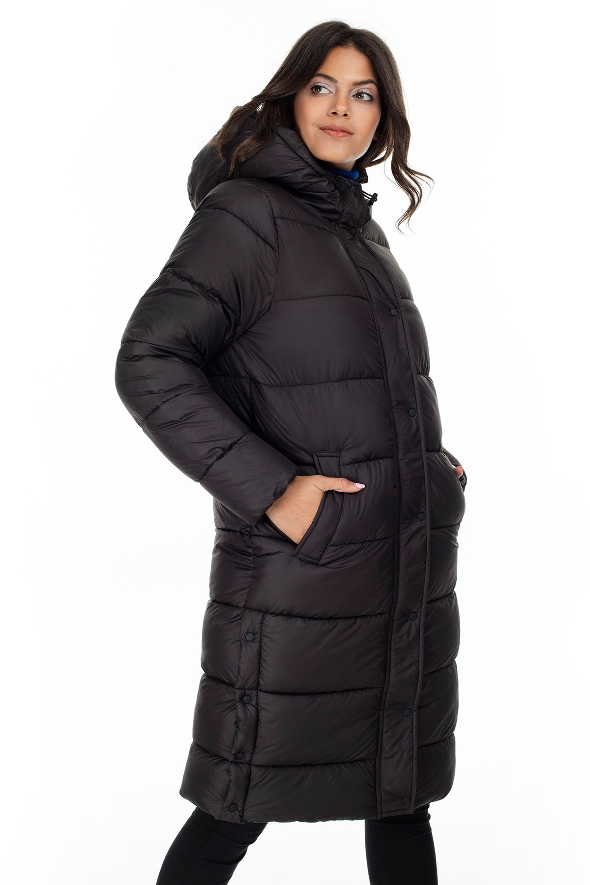 Only ONLCAMMIE LONG QUILTED COAT OTW Kadın Mont 2