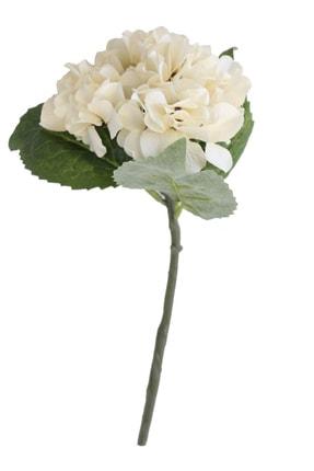 Yapay Çiçek Deposu Yapay Fındık Ortanca Dalı 35 Cm Krem