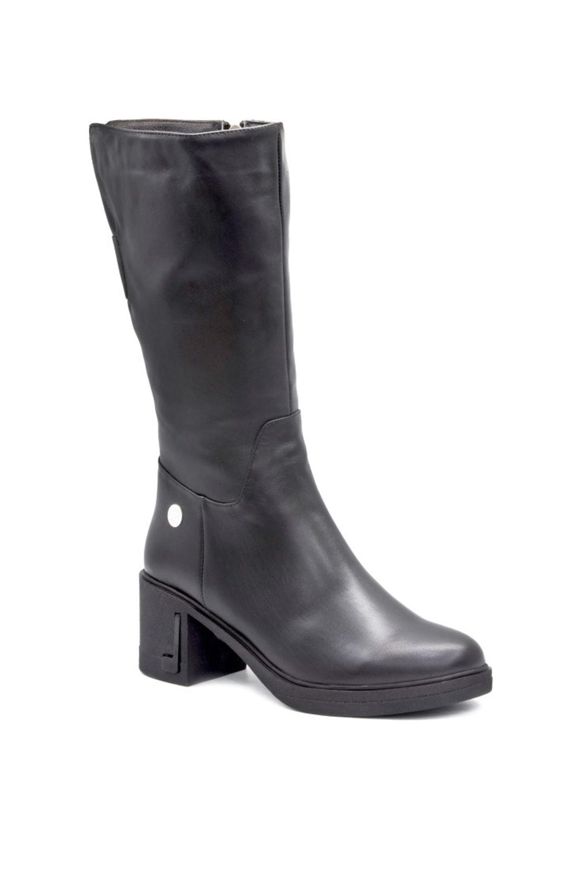 Mammamia Hakiki Deri Siyah Kadın Çizme D19KC20300000 1