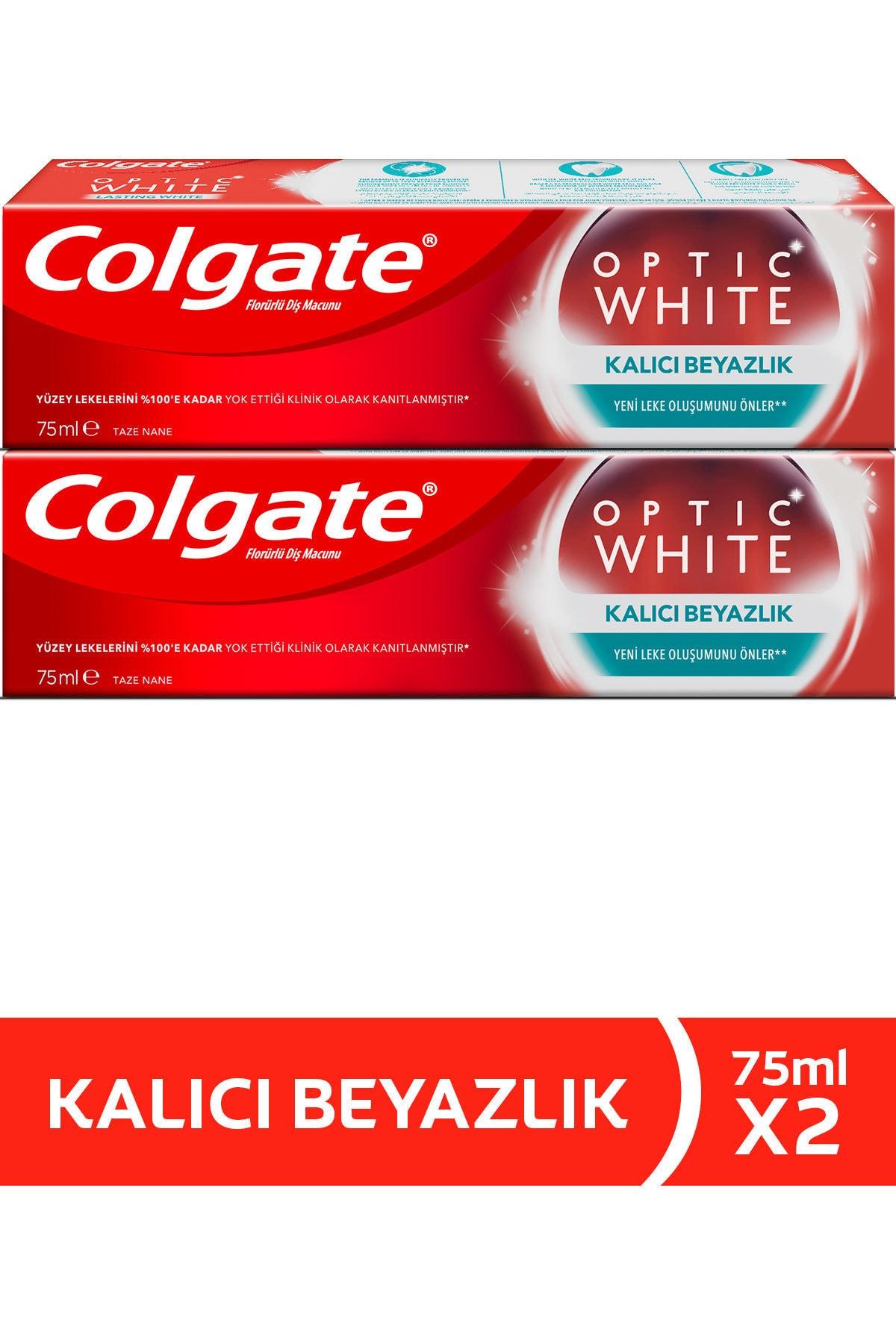 Colgate Optik Beyaz Kalıcı Beyazlık Beyazlatıcı Diş Macunu 75 ml  x 2 Adet 1