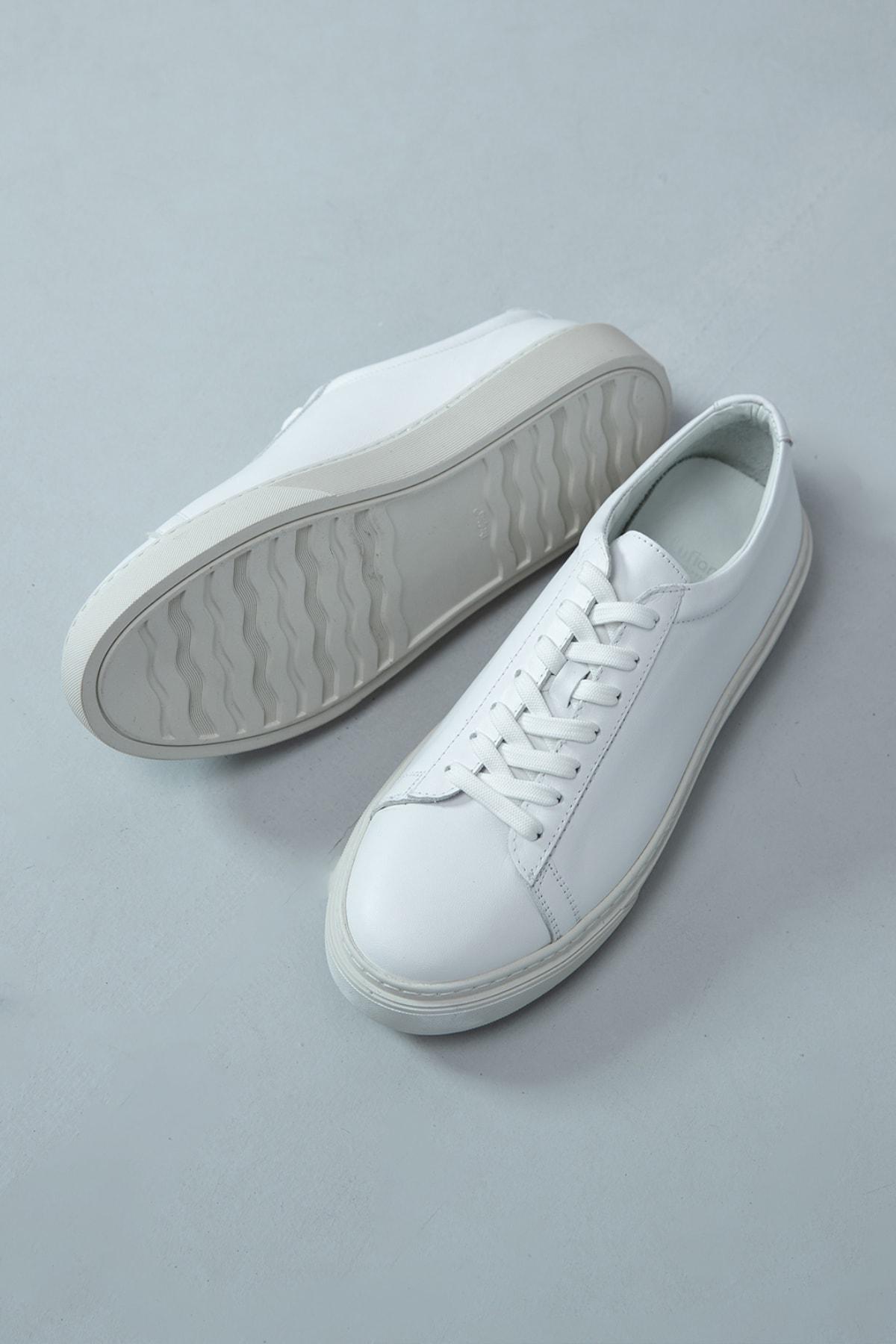 Lufian Slant Deri Sneaker Beyaz 2