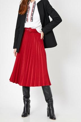 Koton Skirtly Yours Styled By Melis Agazat - Kemerli Pileli Midi Etek