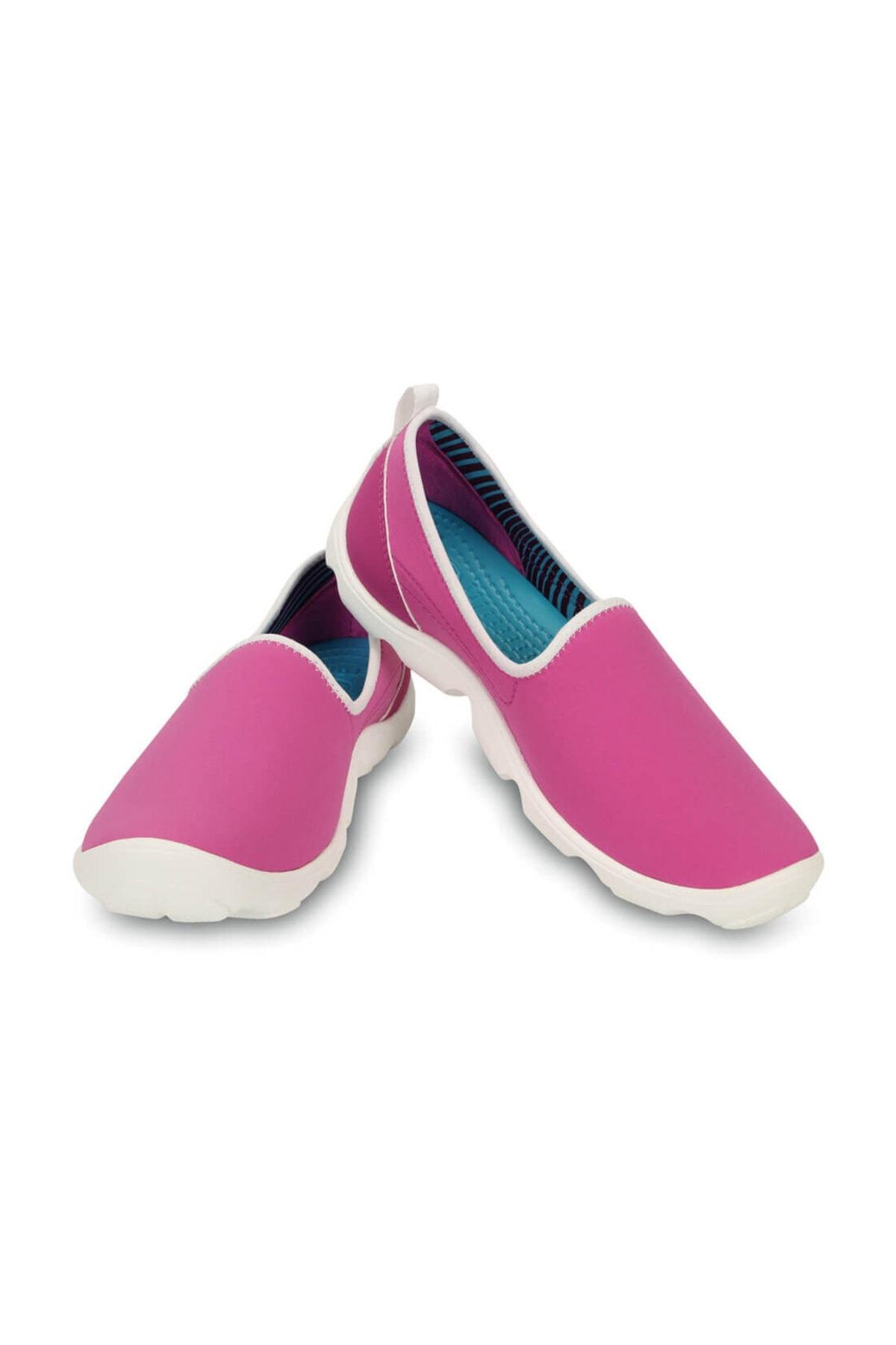 Crocs DUET BUSY DAY SKIMMER VIB Koyu Mor Kadın Sneaker Ayakkabı 100528956 1