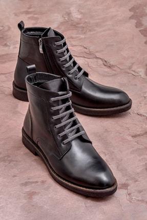 Elle Shoes COMPAY Hakiki Deri Siyah Erkek Bot