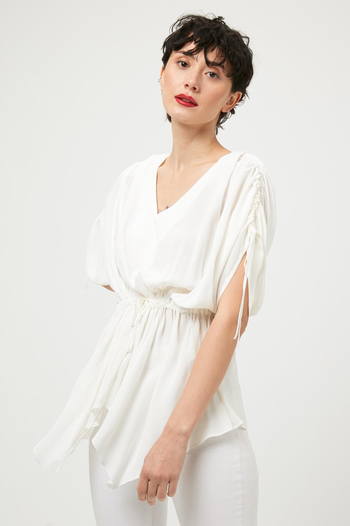 İpekyol Kadın Beyaz Bluz IS1190006471 1