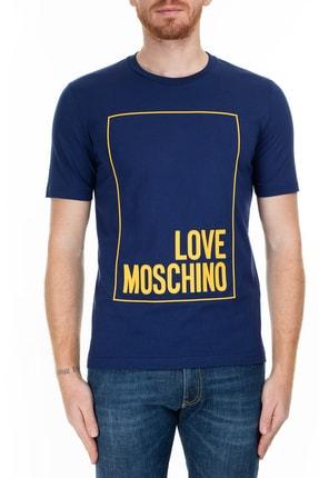 Love Moschino Erkek Lacivert T-Shirt S M47322Rm3876 Y56