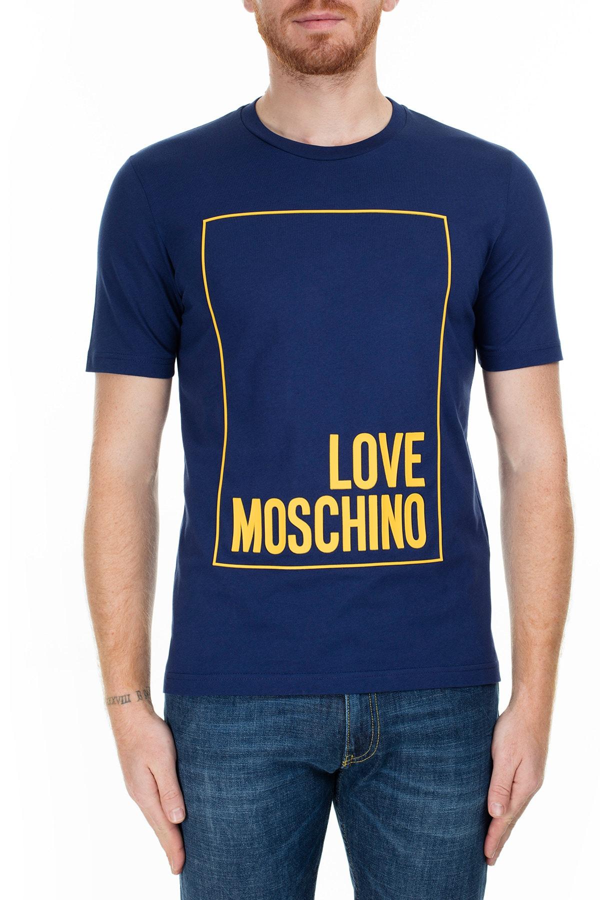Love Moschino Erkek Lacivert T-Shirt S M47322Rm3876 Y56 1