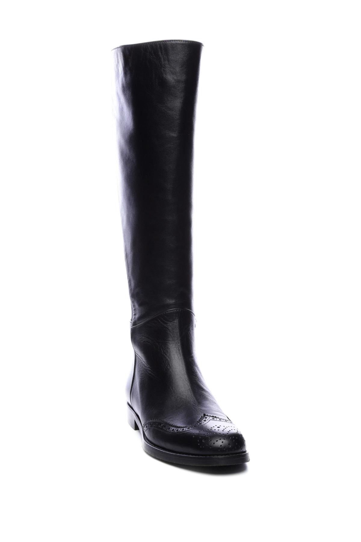 KEMAL TANCA Hakiki Deri Siyah Kadın Casual Çizme 51 1085 C BN CIZME 2