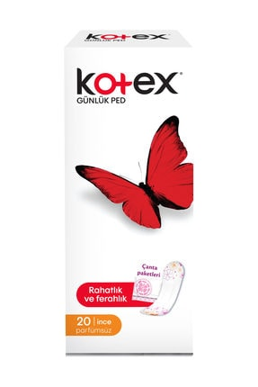 Kotex İnce Günlük Parfümsüz 20'li