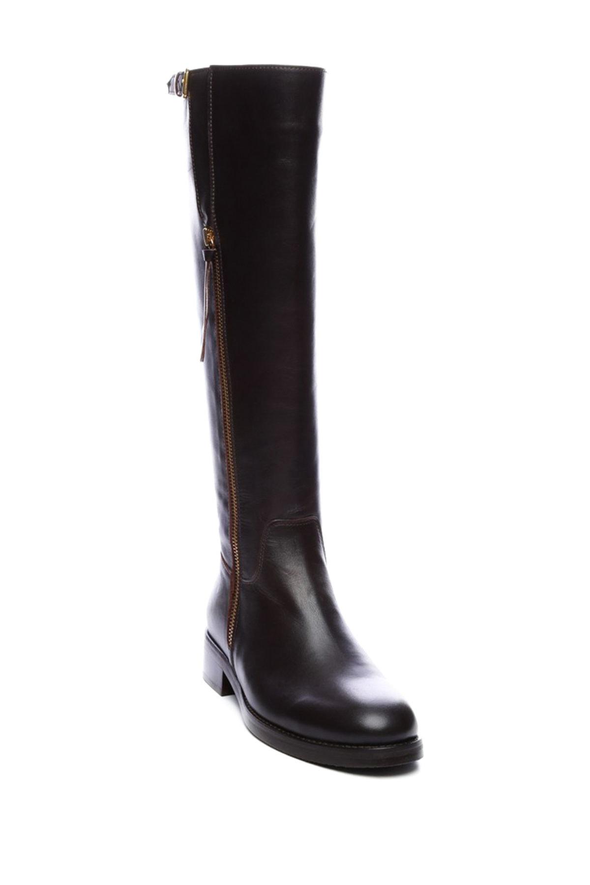 KEMAL TANCA Hakiki Deri Kahverengi Kadın Casual Çizme 51 6370 C BN CIZME 2