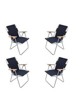 Bofigo 4 Adet Katlanır Kamp Sandalyesi Lacivert