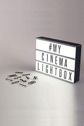 Markafox Lightbox A4 Led Işık Işıklı Mesaj Panosu 96 Harf Light Box Pano