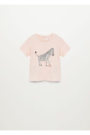 MANGO Baby Organik Pamuklu Desenli Tişört