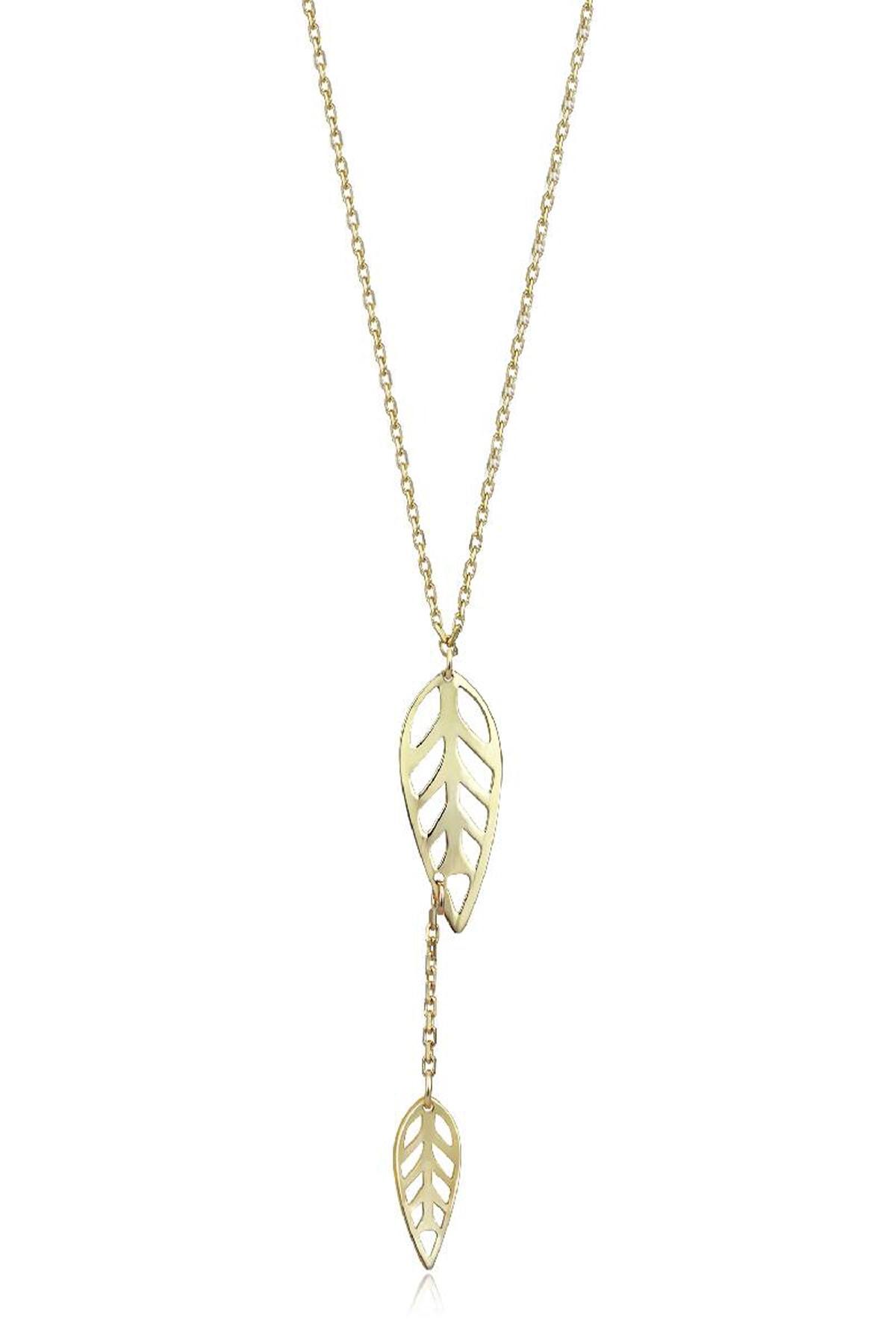 Altınbaş Kadın Altın Yaprak Kolye KLMK7072-24754 1