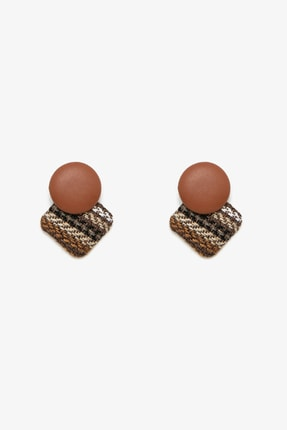Koton Kadın Kahverengi Küpe