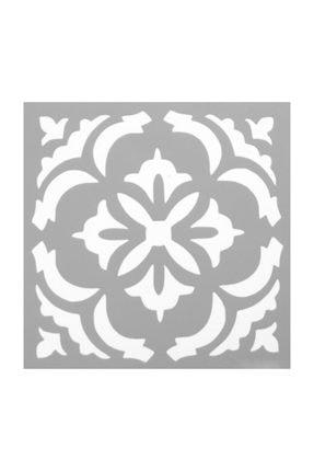 Artikel Karo 45 Stencil Tasarımı Duvar Fayans Mobilya Boyama Şablonu 30 X 30 cm