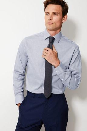 Marks & Spencer Erkek Gri Kolay Ütülenir Tailored Fit Gömlek T11000604T