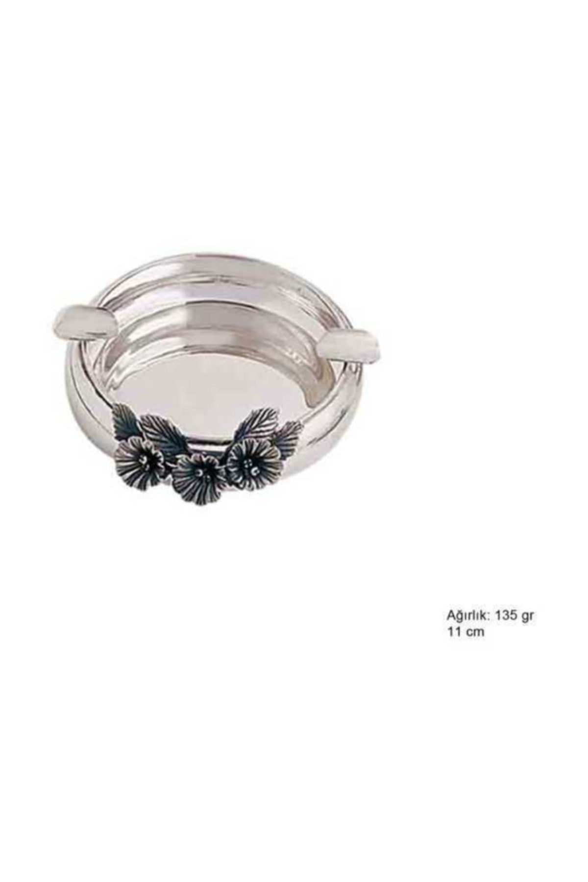 Gumush 925 Ayar Gümüş Orkide Desenli Küllük 1