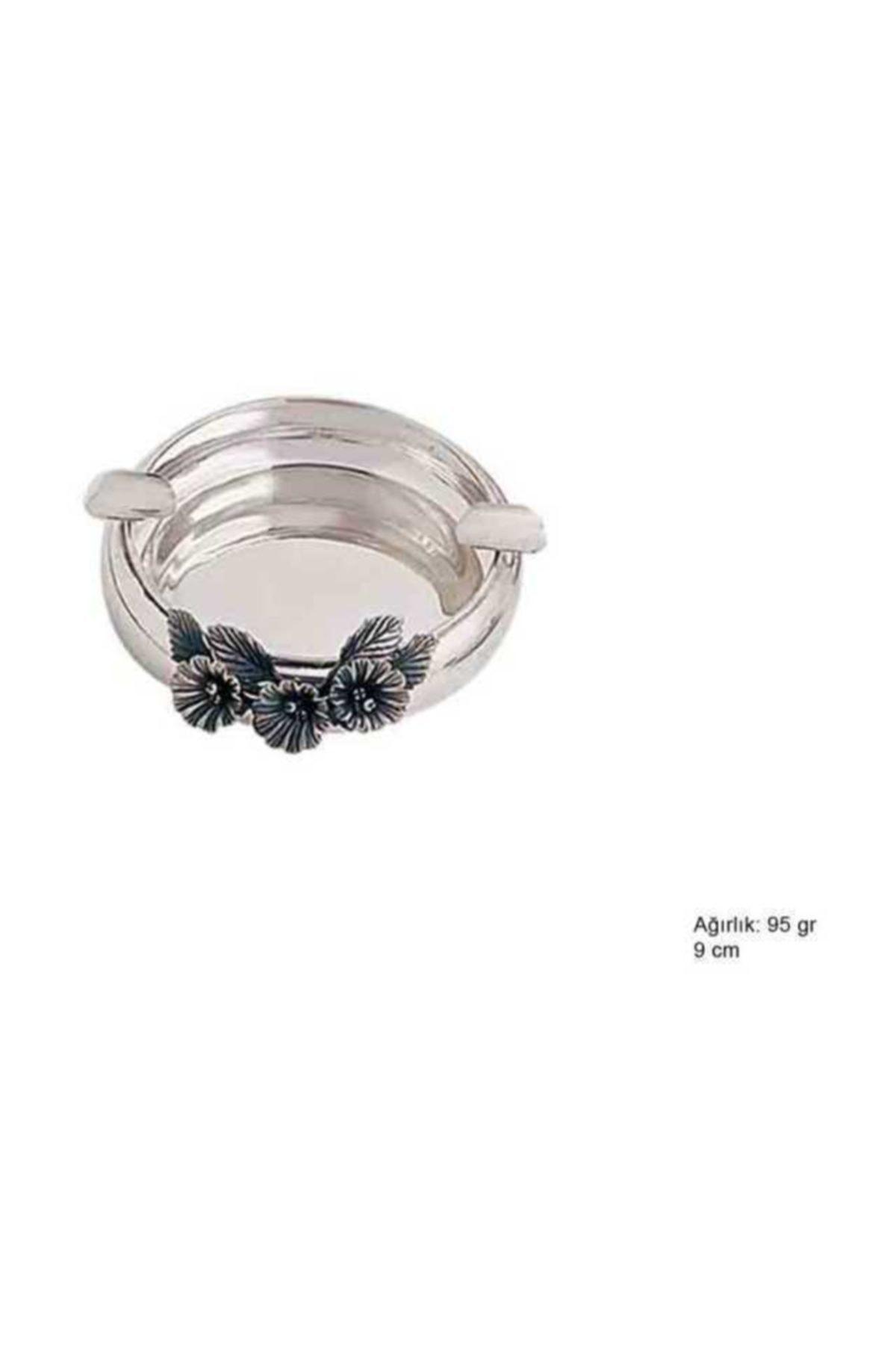 Gumush 925 Ayar Gümüş Çiçek Motifli Küllük 1