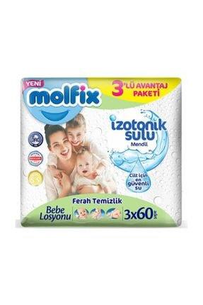 Molfix Izotonik Ferah Temizlik Islak Mendil 3x60lı