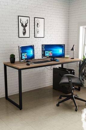 Ceramical Çalışma Masası, Bilgisayar Masası, Ofis Masası (60x160 Cm, Sakremento)
