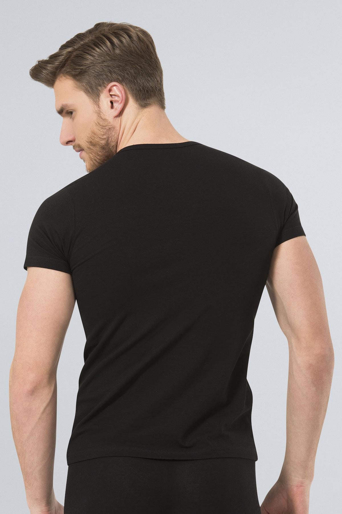 TÜREN Erkek Siyah Likralı Tshirt 2